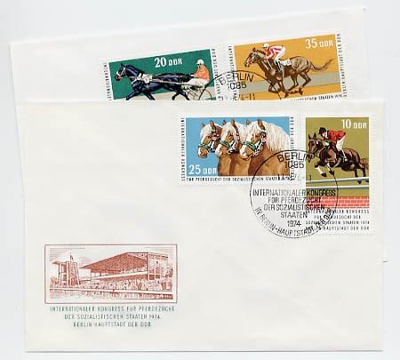 DDR FDC MiNr. 1969/72 Kongreß f. Pferdezucht