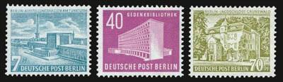 Berlin MiNr. 121/23 ** Freimarken Berliner Bauten III