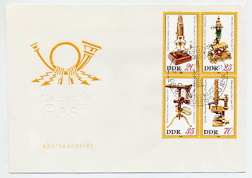 DDR FDC MiNr. 2534/37 Zdr. Optisches Museum