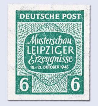 """SBZ West-Sa. MiNr. 124 X U ** Abart """"ungezähnt"""" Musterschau Leipziger Erzeugnisse"""