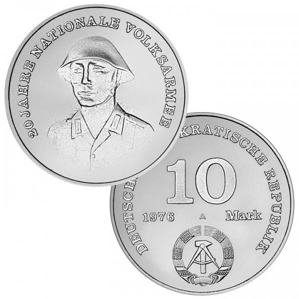 DDR Münze 1976, 10 M, st 20 Jahre Nationale Volksarmee