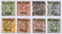 Dt. Reich Dienst MiNr. 57/64 o gepr. Dienstmarken Ziffer in Schildern (8 Werte)