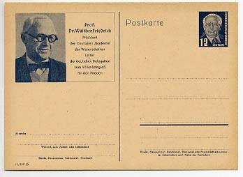 DDR Ganzsache P 52/01 * 12Pf (Dr. W. Friedrich) Wilhelm Pieck I