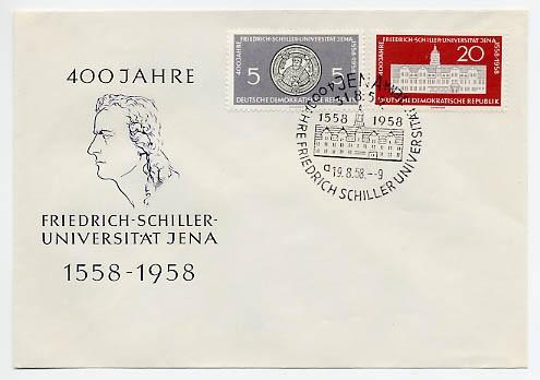 DDR FDC MiNr. 647/48 Schiller-Uni. Jena