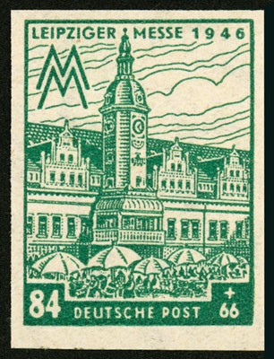 SBZ West-Sa. MiNr. 165 BY a ** geschnitten, gepr. Leipziger Messe 1946 - Westsachsen