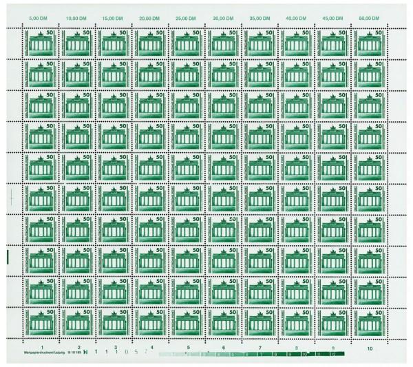 DDR Bogen 3346 ** mit DV3 mit seltenem Druckvermerk, inkl. Sammelblatt