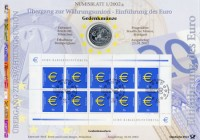 BRD Numisblatt 1/2002 Einführung €uro