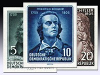 DDR Marken aus Bl. 12 MiNr. 464/66B ** geschn.