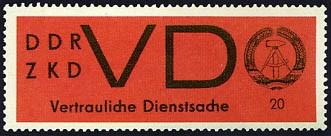 DDR Dienstmarken D MiNr. 3x ** Aufkleber für VD, gewöhnliches Papier