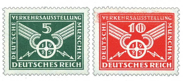 Dt. Reich MiNr. 370/71X ** Dt. Verkehrsausstellung
