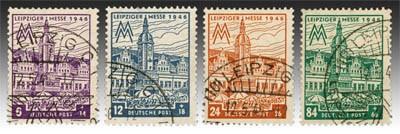 SBZ West-Sa. MiNr. 162/65AX o  Leipziger Messe 1946