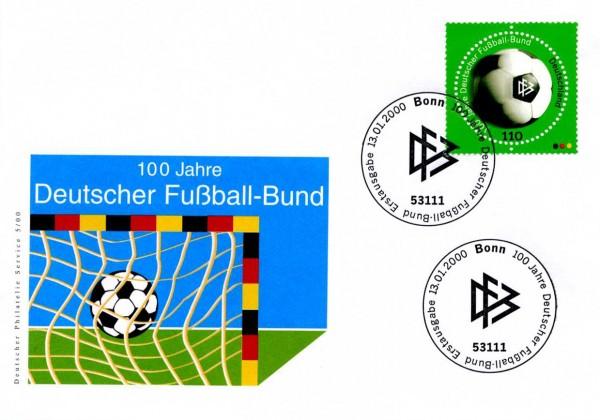 BRD FDC MiNr. 2091 100 J.Deutscher Fußballbund