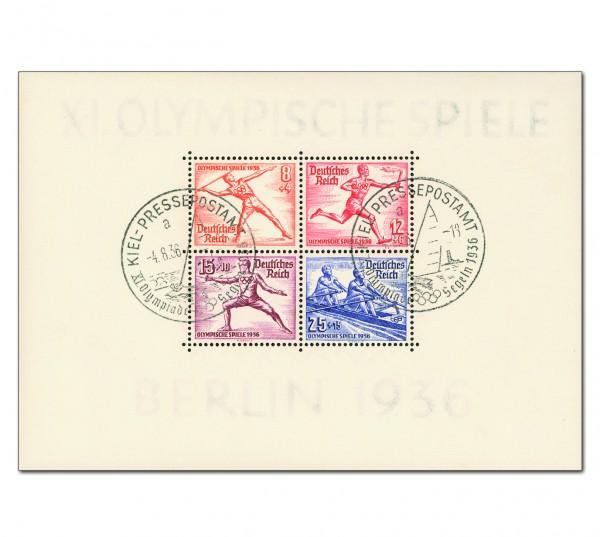 Dt. Reich Bl. 6 MiNr. 628/31 o Olympische Sommerspiele Berlin 1936