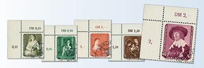 DDR MiNr. 693/97 Gemälde III, Abart o