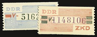 DDR Dienstmarken B MiNr. 28/29 ** Wertstreifen für den ZKD