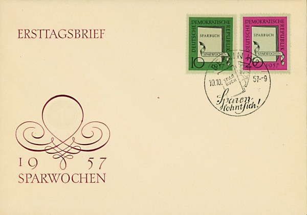 DDR FDC MiNr. 598/99 Sparwochen