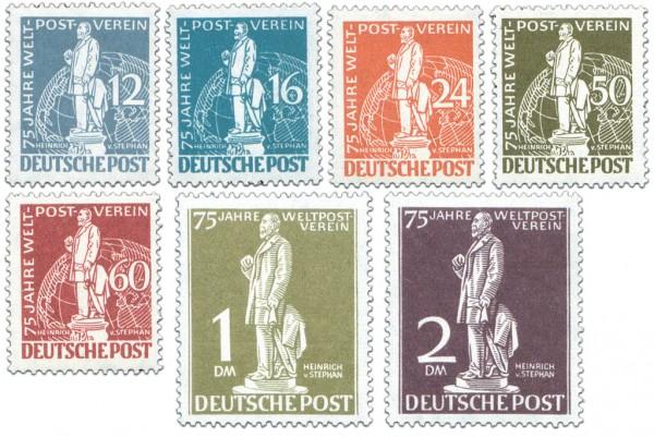 Berlin MiNr. 35/41 ** mit Attest 75 Jahre Weltpostverein (UPU)