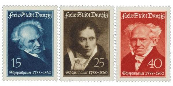Freie Stadt Danzig MiNr. 281/83 ** 150. Geburtstag A. Schoppenhauer