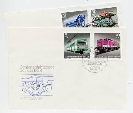 DDR FDC MiNr. 2414/17 Schienenfahrzeuge