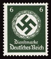 Dt. Reich Dienst MiNr. 135y ** gepr. Dienstmarken für Landes-Behörden