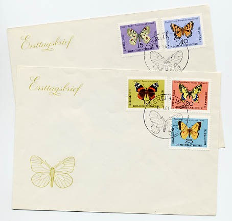 DDR FDC MiNr. 1004/08 Schmetterlinge