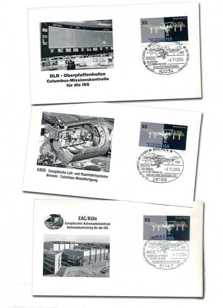ISS-003 Sonderbrief-Serie mit Sonderstempel