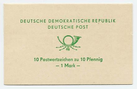 DDR SMHD 1b ** Posthorn (Schrift grün)