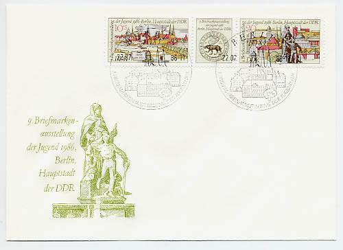 DDR FDC MiNr. 3030/31 Zdr. Briefm. -Ausst. d. Jugend, Berlin