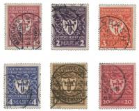 Dt. Reich MiNr. 199/204 o (MiNr. 204 gepr.) Dt. Gewerbeschau München