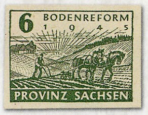 SBZ Prov.Sa. MiNr. 85/86wa ** Bodenreform, geschnitten