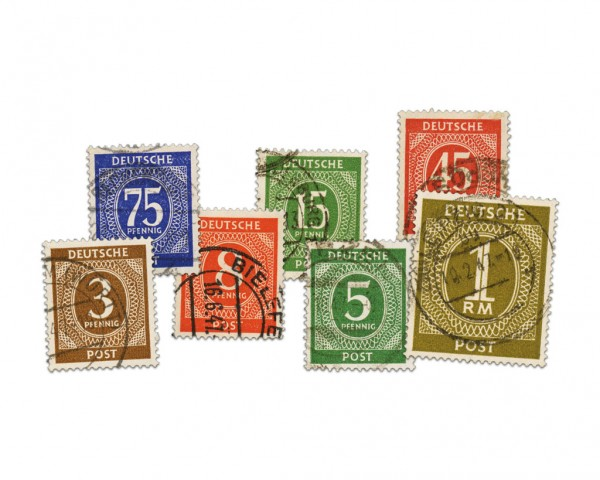 All.Bes.GA MiNr. 911/37 o FM I.Kontrollratsausgabe 1946