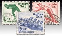 Dt. Reich MiNr. 600/02 o  4. Olympische Winterspiele 1936