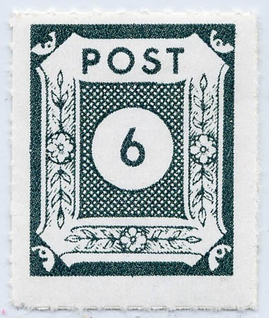 SBZ Ost-Sa. MiNr. 43 BIIb ** Ziffernserie 6 Pf schwarz blau grün