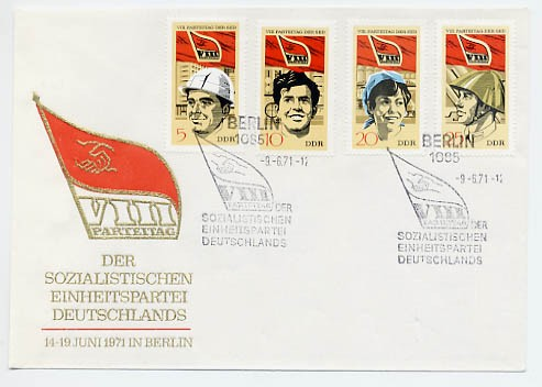 DDR FDC MiNr. 1675/78 8. Parteitag d. SED