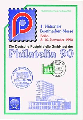 DDR Gedenkblatt G13 Philatelia '90 Berlin