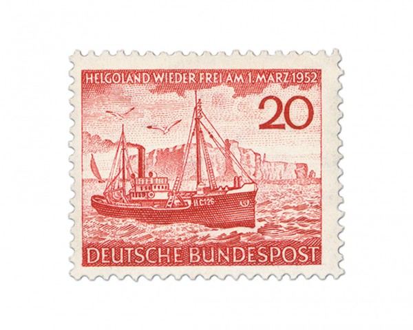 BRD MiNr. 152 ** Rückgabe der Insel Helgoland