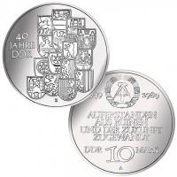 DDR Münze 1989, 10 M, st 40 Jahre DDR