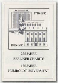 DDR ETB 85/2 275 J.Charite/175 J.Humboldt-Universität