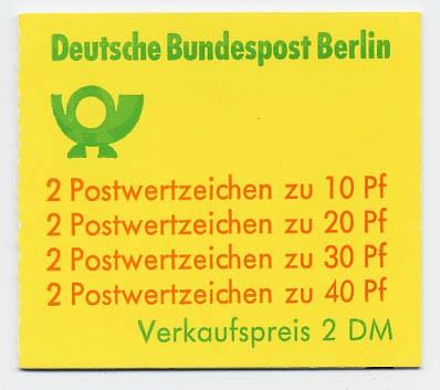 Berlin MH 9dI ** Unfallverhütung 1974 enger Durchstich