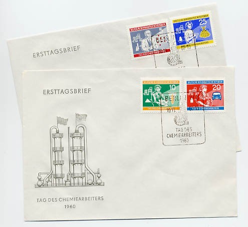 DDR FDC MiNr. 800/03 Tag d. Chemiearbeiters