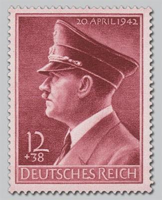 Dt. Reich MiNr. 813x ** 53. Geb. Hitlers