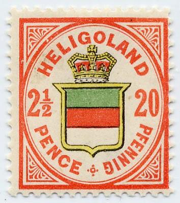 Helgoland MiNr. 18g * 20Pf/2 1/2 P rötl.ora/h'gelb/h'graugrün
