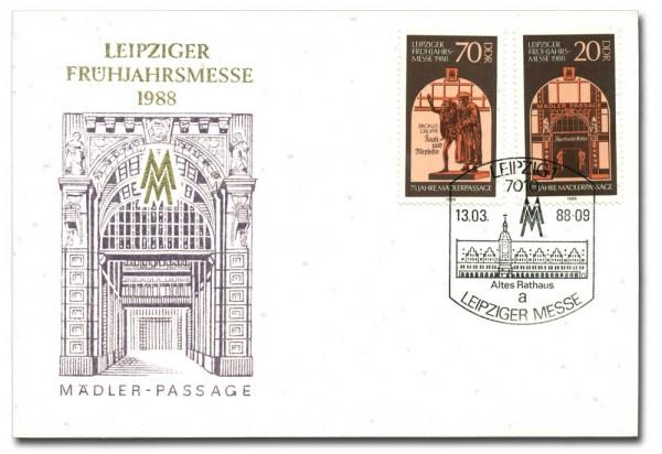 DDR Messekarte 3153/54 o 1988