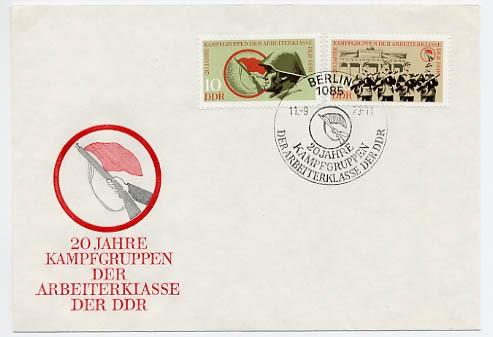 DDR FDC MiNr. 1874/75 20 J. Kampfgruppen
