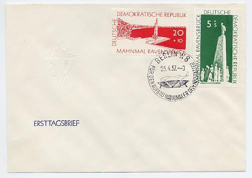 DDR FDC MiNr. 566/67 Aufbau nat. Gedenkstätten