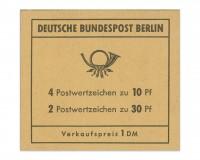 Berlin MH 6d ** Brandenburger Tor, 1970 Reklame Dietzel