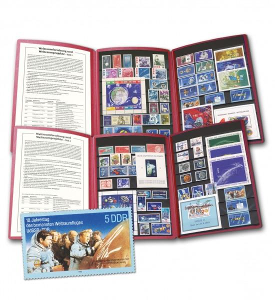 DDR - Philatelie-Edition Weltraumforschung Teil 1+2