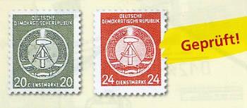 DDR Propagandafälschung MiNr. 8-9 **