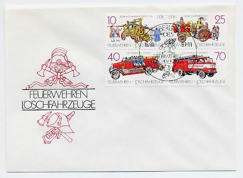 DDR FDC MiNr. 3101/04 Zdr. Feuerwehren u. Löschfahrzeuge