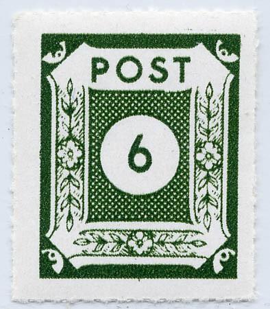 SBZ Ost-Sa. MiNr. 43BI ** Ziffern 6 Pf Durchstich schwarzgelbgrün